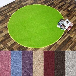 nasty floor kurzflor teppich rund verschiedene farben 133cm oder 200cm ebay. Black Bedroom Furniture Sets. Home Design Ideas