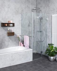 Details zu Combia Duschkabine neben Badewanne Dusche Duschabtrennung A2K
