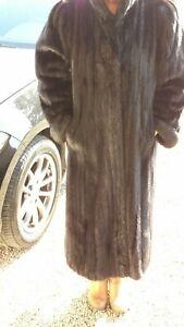 Vison Taille Etat Fourrure De En Superbe Manteau 44 42 Excellent xY6fIq