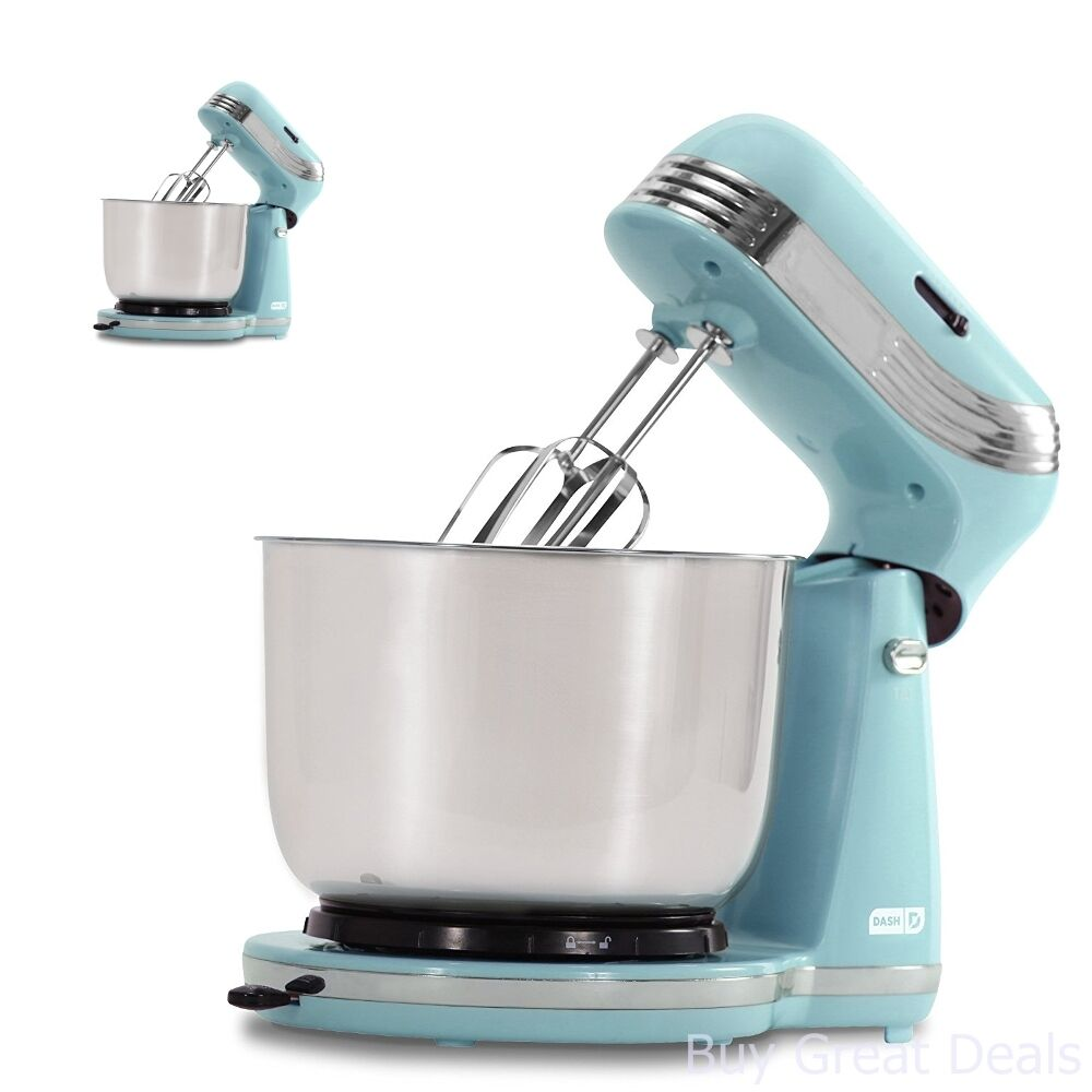 Stand Up Mixer bluee Tilt Compact Mix Beaters Dough Hook Baking Compact Portable