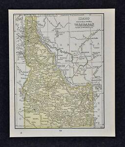 1917 Mcnally Map Idaho Boise Caldwell Pocatello Wallace Moscow