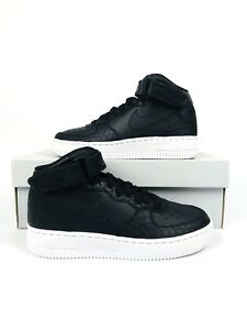 Details about Nike Air Force 1 Mid LV8 Gs Big Kids 820342 001 Black Snakeskin Shoes Size 4.5