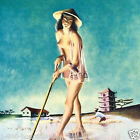 Vintage Original Asian CHINESE PINUP GIRL RICE FARMER Pinup Girl Calendar 1955