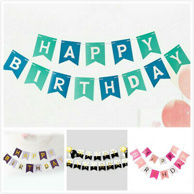 Happy Birthday Letter Bunting Garland Alphabet Birthday Hanging Banner Decor