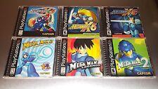 Complete Mega Man Playstation 1 Lot X4 X5 X6 8 Legends 2 ☆☆ MINT CASES ☆☆ - PS1