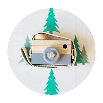 Cute Wooden Toy Camera Kids Girls Boys Creative Neck Camera Photo Props Decor