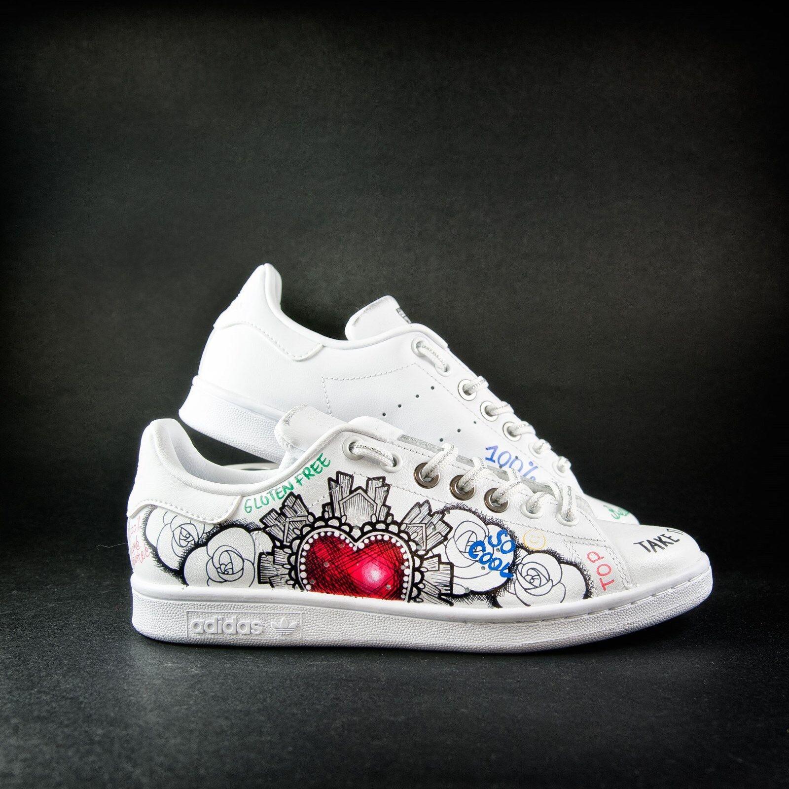scarpe adidas stan smith dipinta a mano