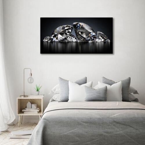 Glas-Bild Wandbilder Druck auf Glas 140x70 Deko Sonstige Diamanten