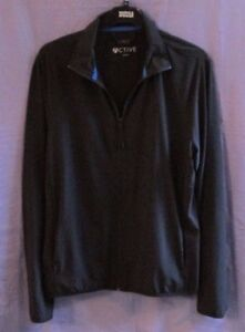 EX M&S ACTIVE MANS BLACK LIGHTWEIGHT ZIP UP RUNNING JACKET SPORTS WEAR