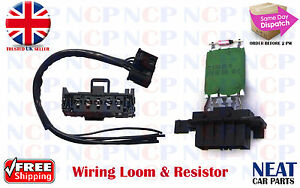 vauxhall corsa d heater motor blower wiring harness loom resistor rh ebay co uk  corsa d stereo wiring harness