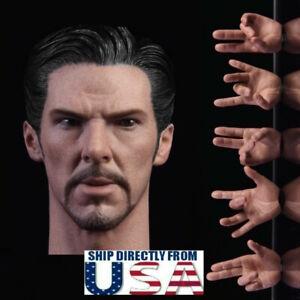 """Ouvert D'Esprit 1/6 Benedict Cumberbatch Docteur Strange Head Sculpt Un Avec Mains Pour 12"""" Figure-afficher Le Titre D'origine"""