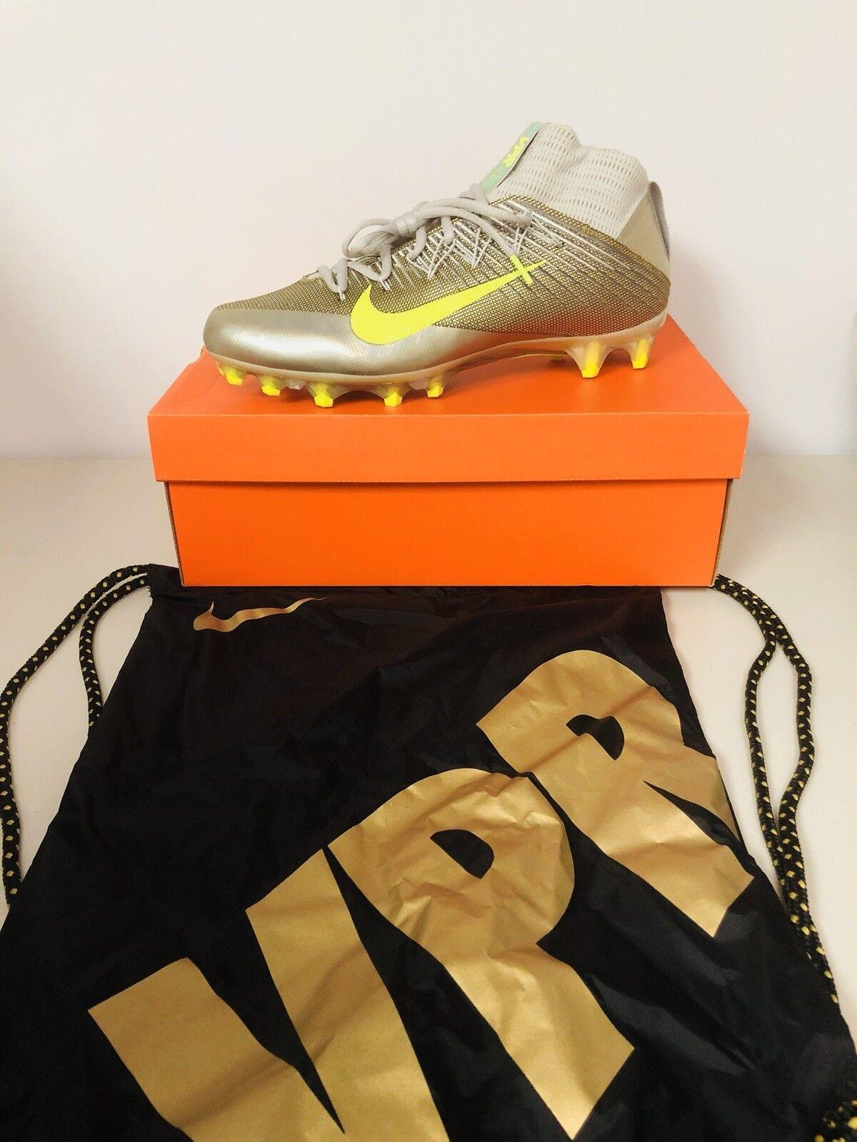 NIB Nike Vapor Untouchable 2 Men's Size 12 Metallic Football Cleats 824470-010