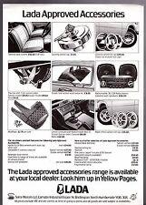 Lada Accessories 1979 UK Market Leaflet Sales Brochure 1200 1300 1500 1600