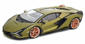 Lamborghini-Sian-Matt-Oliva-gran-ejemplo-amp-Detalle-Modelo-1-18-escala-Diecast-Nuevo-Y-En-Caja