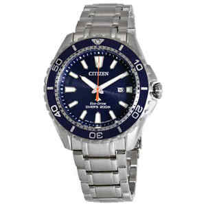 Citizen-Promaster-Diver-Blue-Dial-Steel-Men-039-s-Watch-BN0191-55L