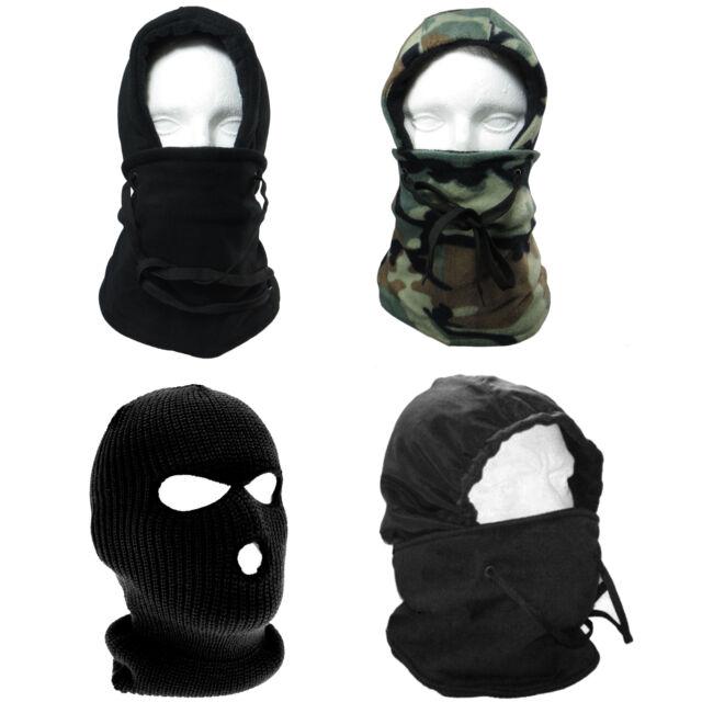 6 in 1 Thermal Fleece Balaclava Hood Police Swat Ski Bike Wind Stopper Face Mask