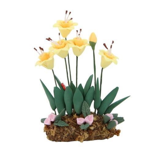 1//12 Scale Ratio Dollhouse Mini Resin Flower Plant Pot Doll House Parts