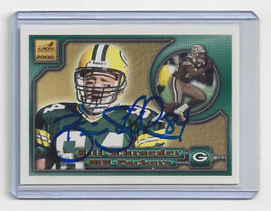 2000-PACKERS-Bill-Schroeder-signed-card-Pacific-56-AUTO-Autographed-Green-Bay