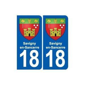 18 Savigny-en-sancerre Blason Autocollant Plaque Ville Sticker