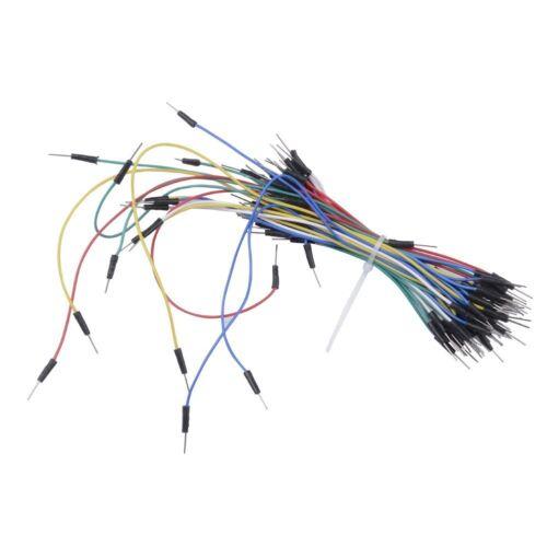 Mini Universal Solderless Breadboard 400 Tie-points 65PCS Jumper cable wire M