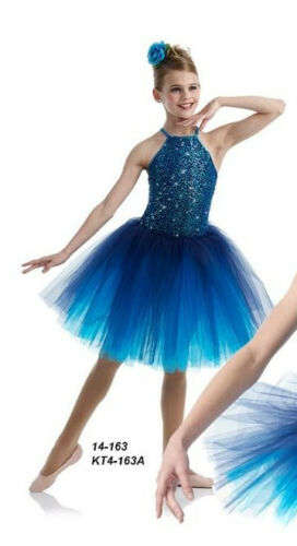 MIDNIGHT Romantic Ballet Tutu Costume Dance Sparkle CXS,CL,AS,AM,AL,AXL Adult