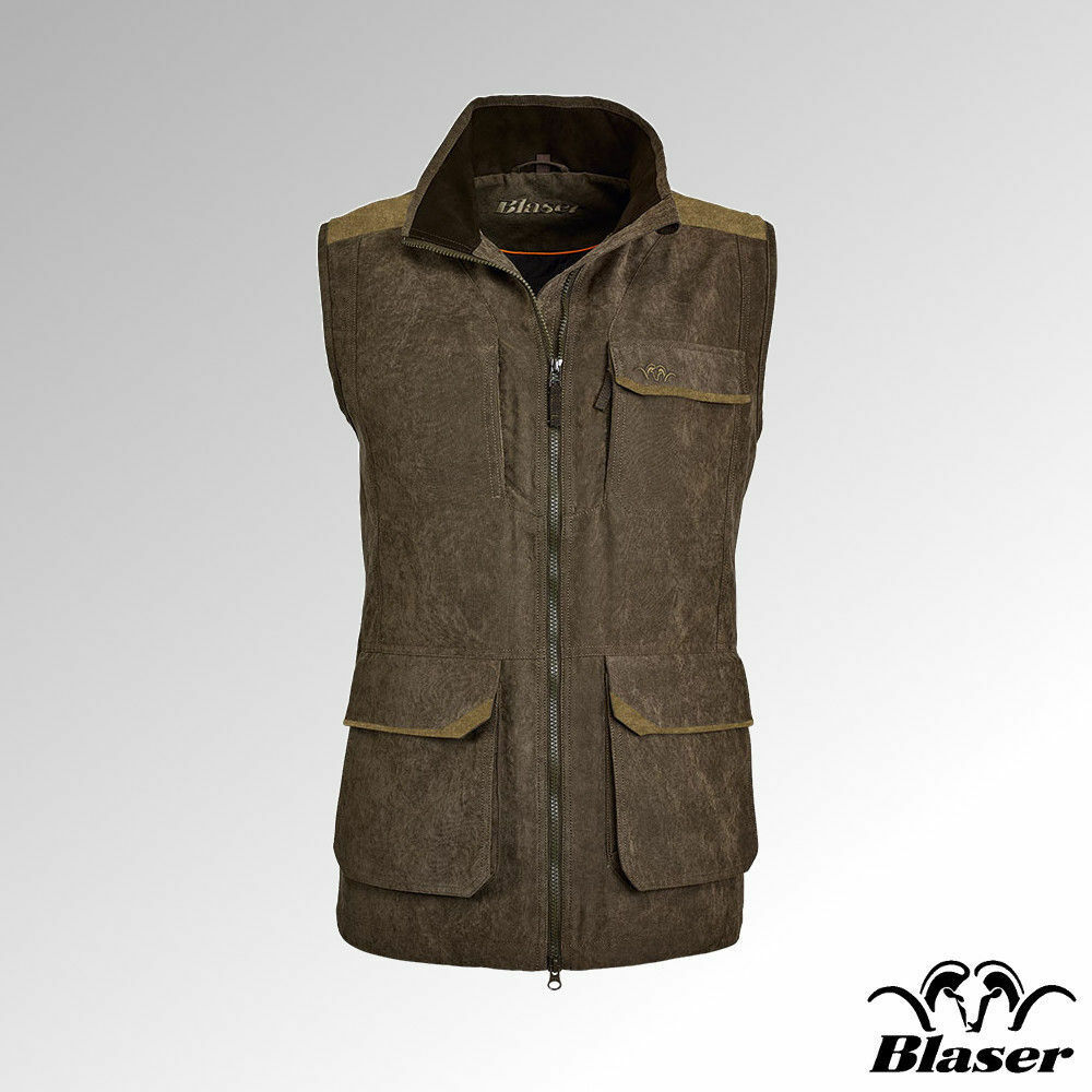 Blaser Vest Ladies Argali Quilted Brown Melange (117072-001 576)