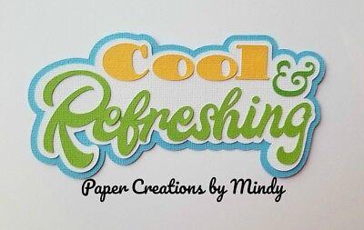 CRAFTECAFE MINDY JUNIOR HIGH SCHOOL premade paper piece scrapbook title diecut