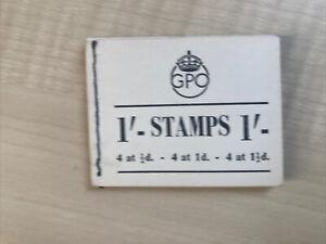 Great Britain Stamp Booklet George V1 1/-