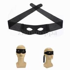 Masquerade Bandit Zorro Black Masked Man Eye Mask Venetian Adult Super Hero New