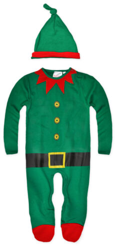 Baby Christmas 1Onesie1 Boys Girls Babygrow Santa Elf Xmas Sleepsuit NB-6 Months