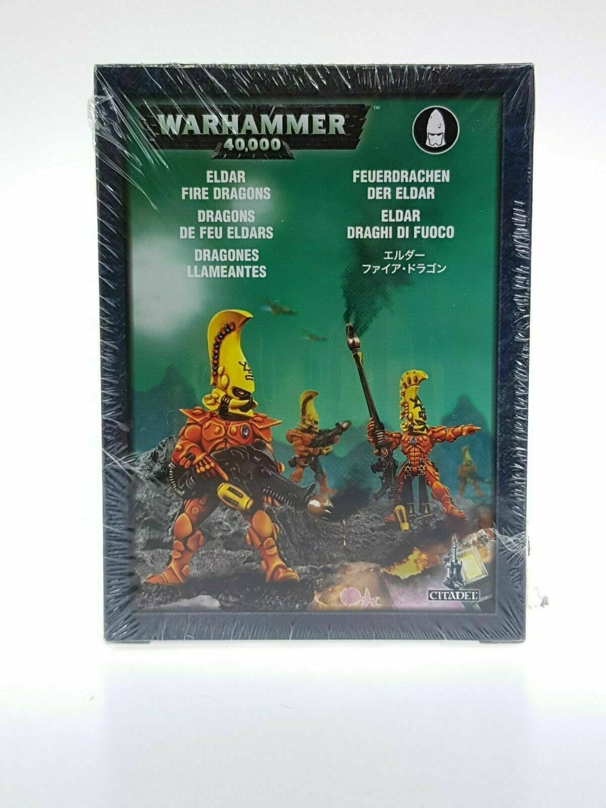 Spel arbetarhop Warhammer 40k Eldar Fire drakes Squad Metal BNIB Ny förseglad OOP