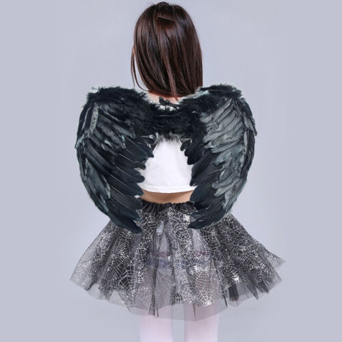 Adults Kids Feather Angel Wings Fariy Fancy Christmas Halloween Cosplay Costume Black Halo Only : black halo costume  - Germanpascual.Com