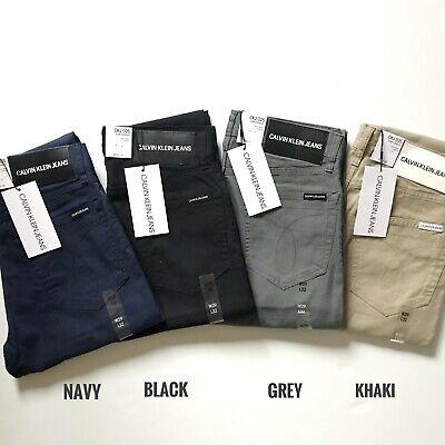 Nwt Calvin Klein Jeans Men S Essentials Slim Straight Solid Stretch Chino Pants Ebay