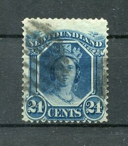 Canada-Newfoundland-1866-mi-n-21-y-timbrato-Victoria-650