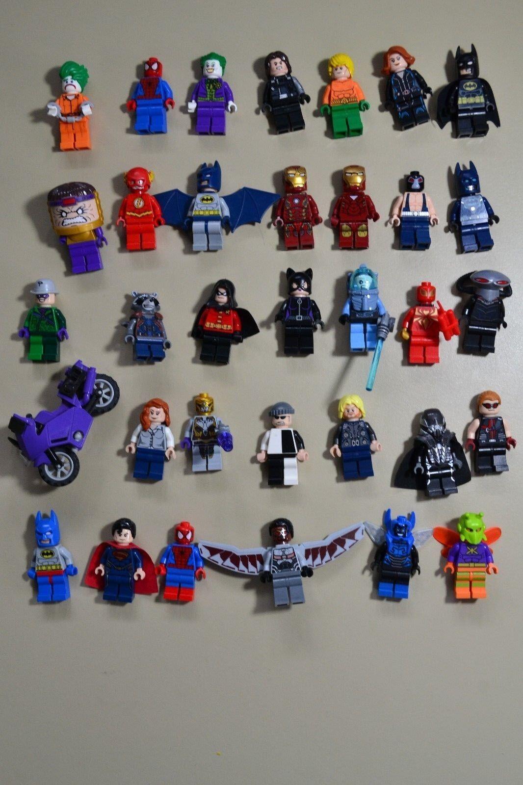 Lego Marvel DC minifigures Super Heroes Lot autentico.