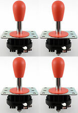 4 x Ultimarc MagStick Plus Bat Top Arcade Joysticks, 4/8 Way (Rot) - MAME