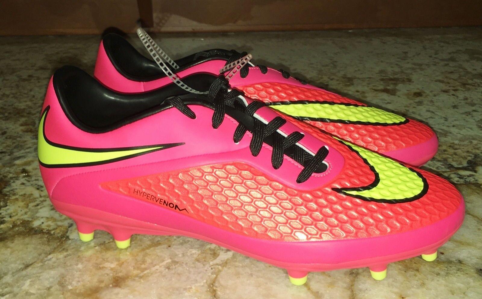 NIKE Hypervenom Phelon FG Hyper Punch Soccer Cleats Boots NEW Mens 7.5 10 12