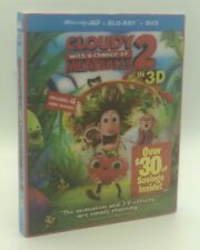Cloudy 2: Revenge of the Leftovers (Blu-ray/DVD, 2014, 3-Disc Set, Includes Digital Copy UltraViolet 3D)