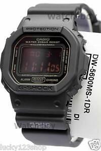 DW-5600MS-1D Black Red Eye Casio G-shock Men s Watches 200m Resin ... e13755305442