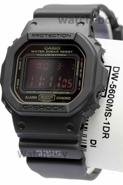 7ae669cceee DW-5600MS-1D Black Red Eye Casio G-shock Men s Watches 200m Resin ...