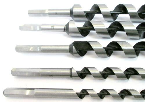 5pc Auger Drill Bit Set Wood Drills Hex Shank 10 13 19 22 25mm New  DR143