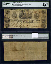 Kirtland OH $2 1837 Obsolete Currency Ch #OH245G4 Kirtland SSB PMG Fine12NET