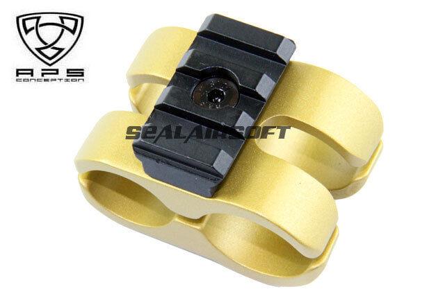 A.P.S. Airsoft Juguete Cam 870 Tipo S Montaje de barril  (oro) (sólo Juguete) APS-CAM075  bienvenido a comprar