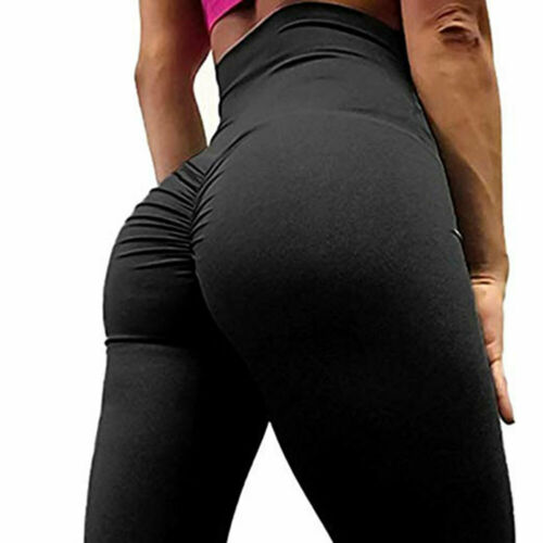 Women High Stretch Seamless Tummy Control Yoga Pants Gym Workout Sport Leggings