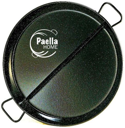 Gift 60cm Professional Enamelled MULTITASTE Two Recipe Pan Paella Pan 38cm
