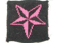Blest Sweater Knit Black Pink Nautical Star Naval Rockabilly Punk Rock Patch