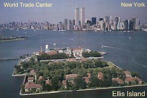 Ellis-Island-amp-World-Trade-Center-Twin-Towers-New-York-City-NY-WTC-Postcard