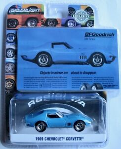 1969 Chevrolet Corvette Blau Greenlight 1 64 Ebay