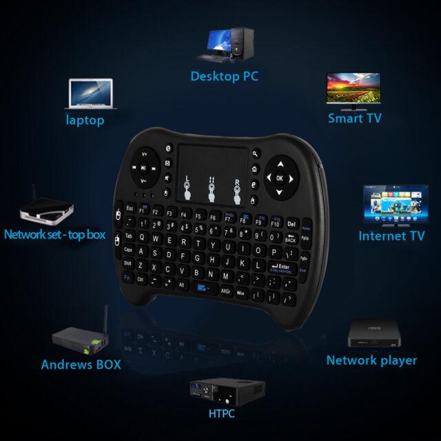 2.4GHz Mini Funk Kabellos Tastatur Touch Wireless Keyboard QWERTY für Smart TV