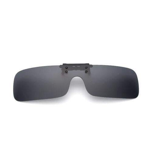 Mens Polarized Sunglasses Clip On Flip-up Driving Glasses Integrated Lens UV400